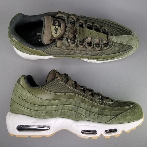 Nike Air Max 95 SE Olive Canvas Athletic Shoes 12 NWT